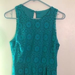 Teal lace dress NWOT